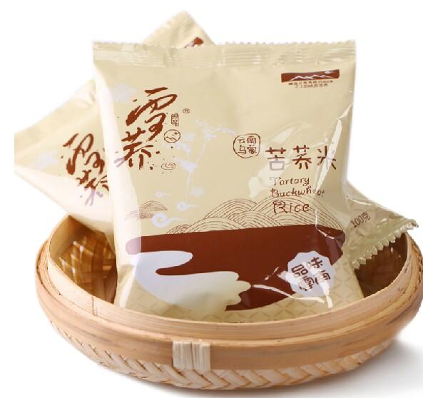 雪荞苦荞米100g 粗粮养生 全颗粒黑苦荞 荞麦纯香