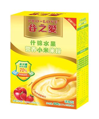 什锦水果小米米粉225g
