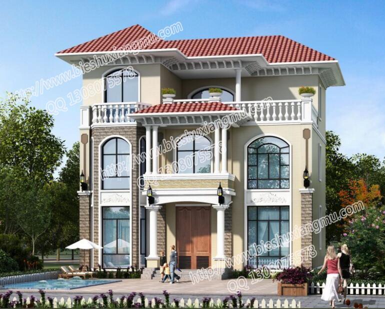 三层豪华独栋别墅设计图 新农村住宅设计
