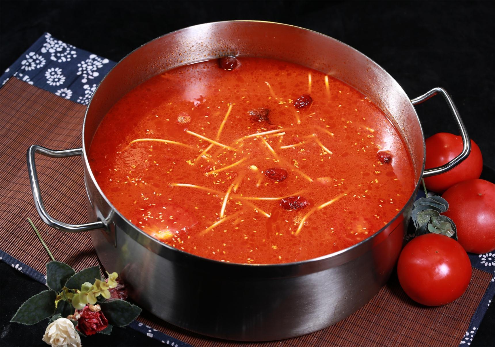 特色番茄鸭架汤