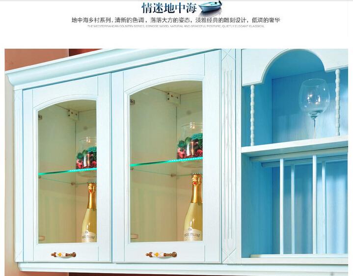 蓝色地中海系列爱丽思F4星环保-整体定制橱柜