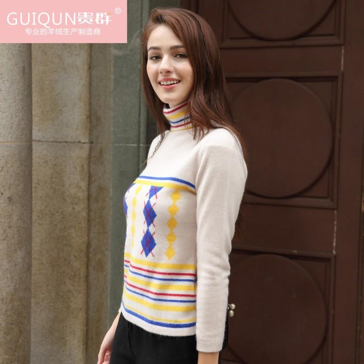 四川羊绒衫品牌新款女装毛衣套头厂家供应