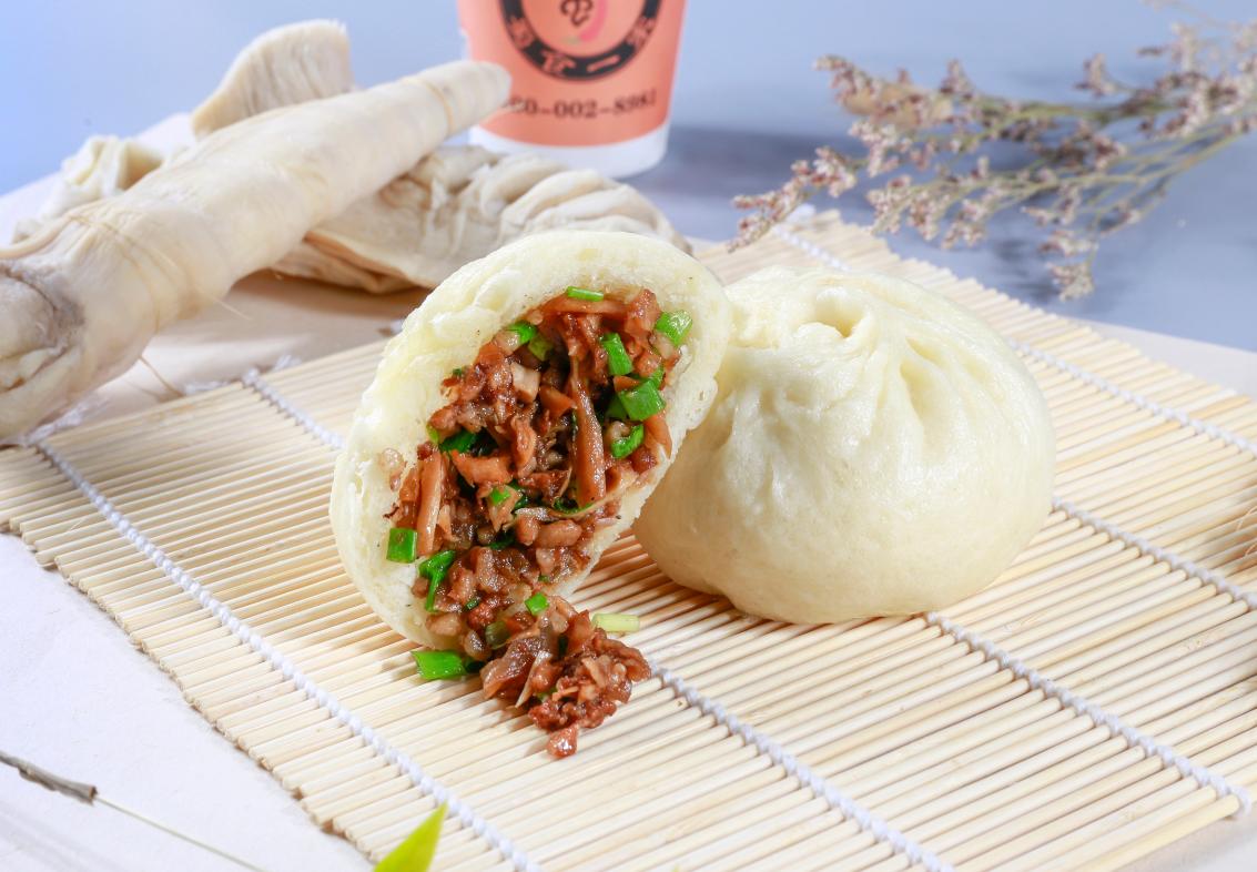 竹笋鲜肉包