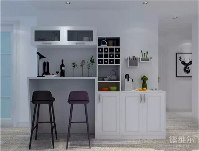 北欧风格整体式酒柜吧台
