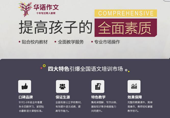华语作文加盟费用多少钱_华语作文加盟电话加盟条件_1