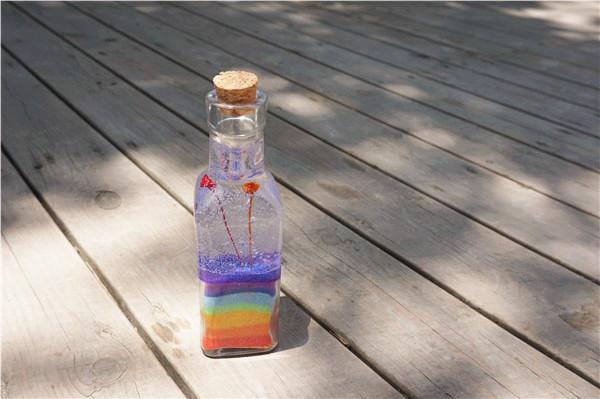 创意手工蜡烛店分享七色彩虹果冻蜡烛