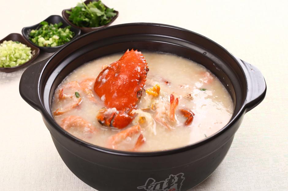 羔蟹鲜虾粥