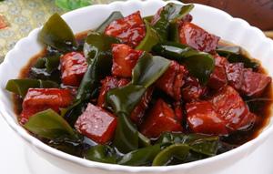 海带结烧肉做法-皖香客大食堂快餐品牌