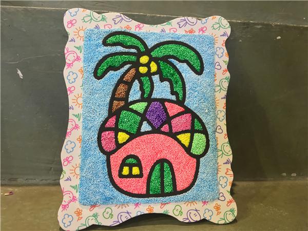 室内儿童乐园珍珠泥作品夏天的味道