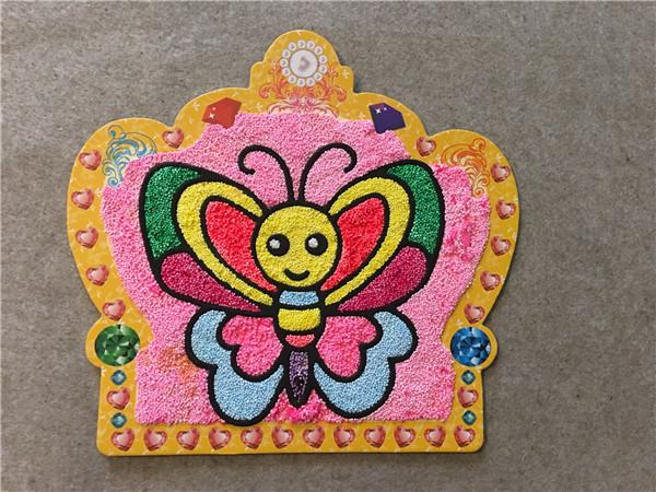 儿童乐园分享珍珠泥作品:美丽的蝴蝶