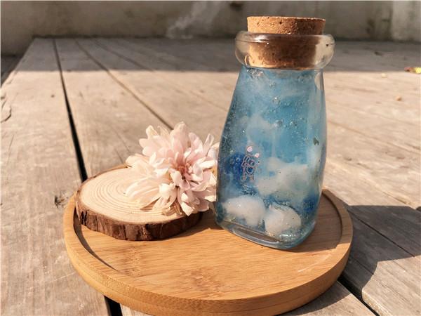 果冻蜡烛作品分享冰天雪地