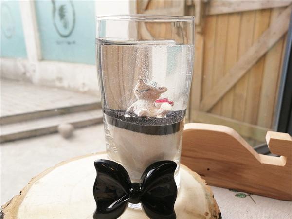 躲在杯里的小熊