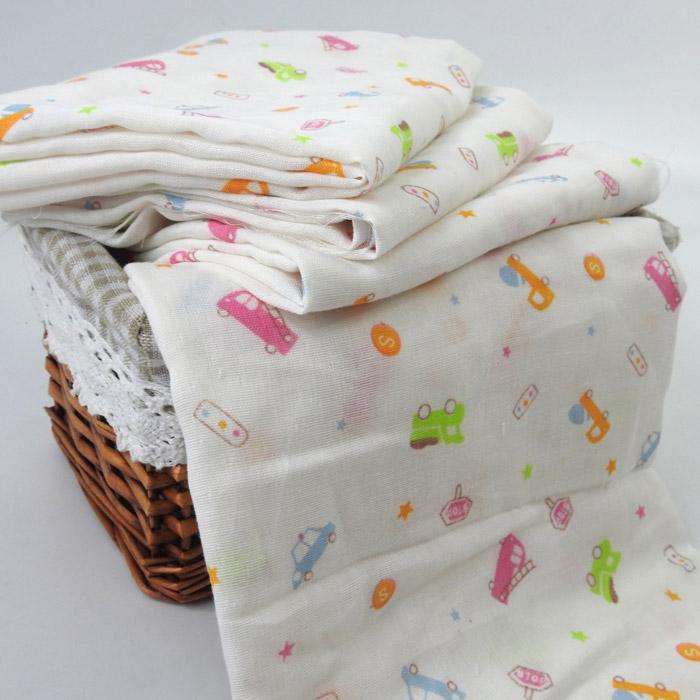 纯棉双层印花婴童纱布