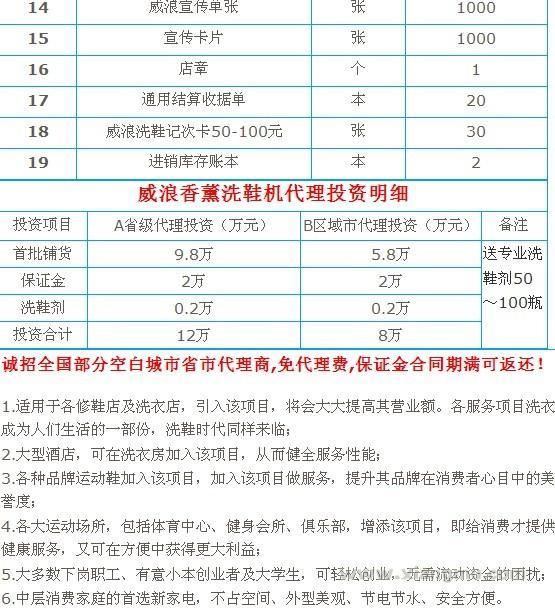 威浪香薰洗鞋连锁店:中国著名连锁品牌_22