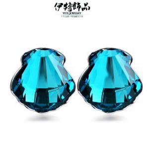 2015新款进口奥地利高档水晶耳环 韩版时尚扇贝耳钉 5697