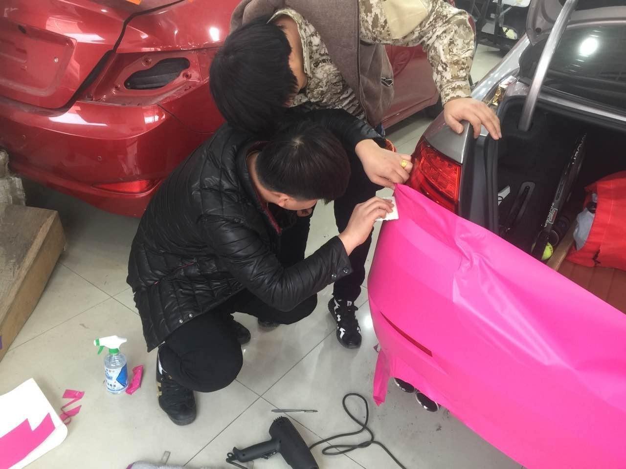 中国加盟网报道:车衣裳天津车身改色加盟商学员赴北京总部培训_3