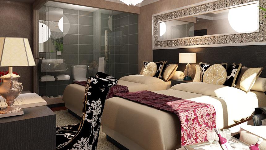 都市118连锁酒店豪华双床房