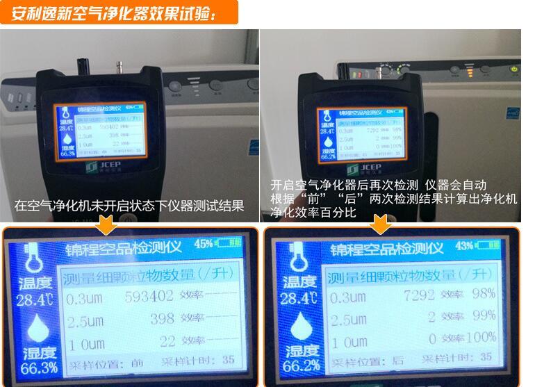 锦程高精度M9粉尘雾霾检测仪PM2.5检测仪安利空气净化效率检测仪
