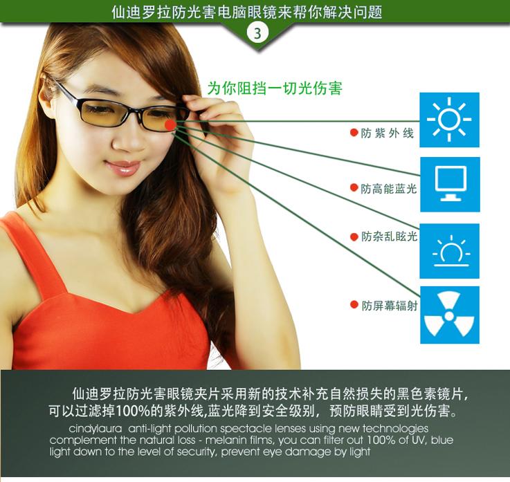 仙迪罗拉防光害辐射眼镜CD016_8