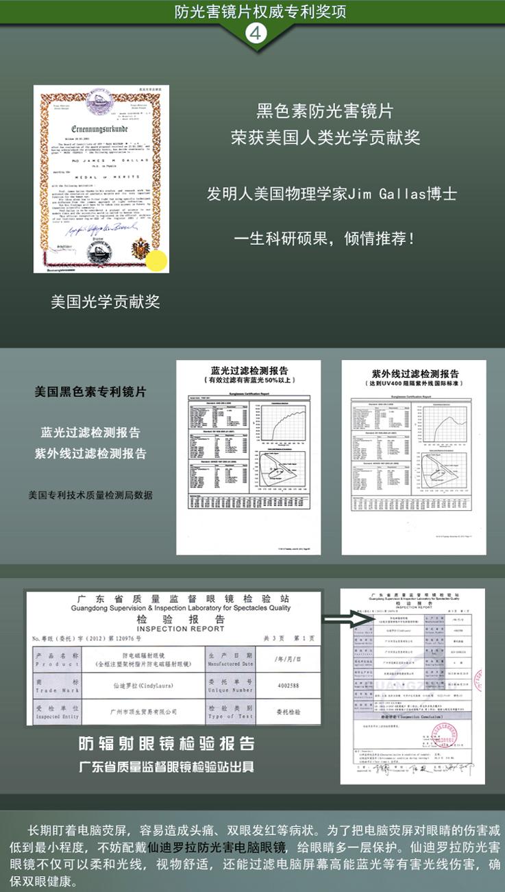 仙迪罗拉防光害辐射眼镜CD016_10