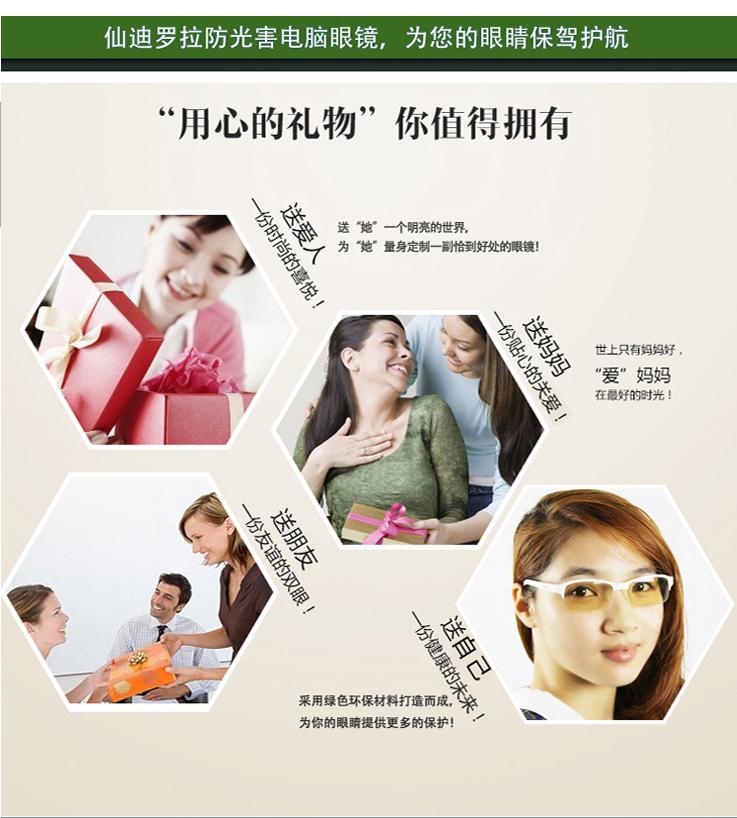 仙迪罗拉防光害辐射眼镜CD016_20