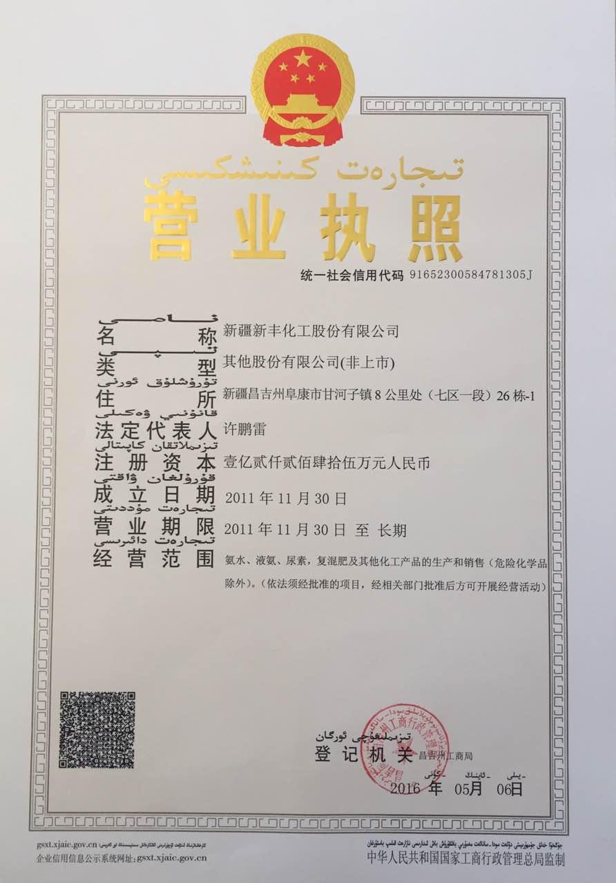 新疆新丰化工股份有限公司