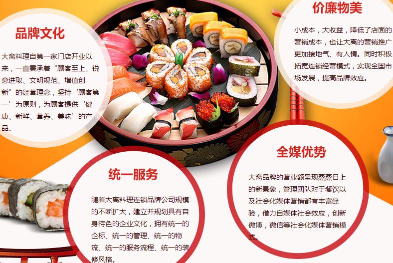 大离刺身日式料理加盟费多少钱,大离刺身日式料理加盟连锁_4