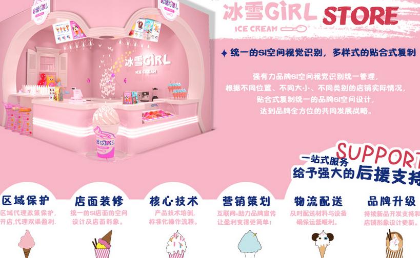 冰雪girl冰淇淋加盟支持_1
