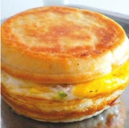 洛阳鸡蛋肉汉堡的制作方法