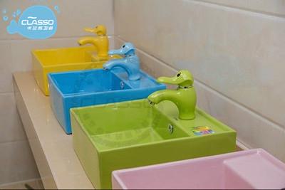 幼儿园卫生间儿童洗手池安装间距是多少?(图)_1