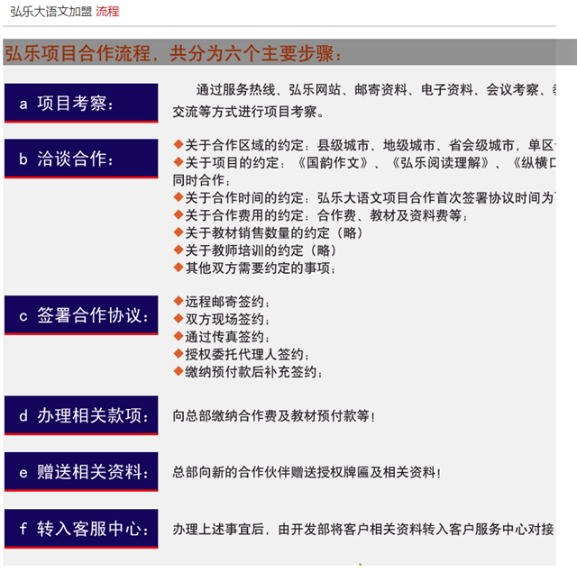 弘乐大语文加盟流程_1