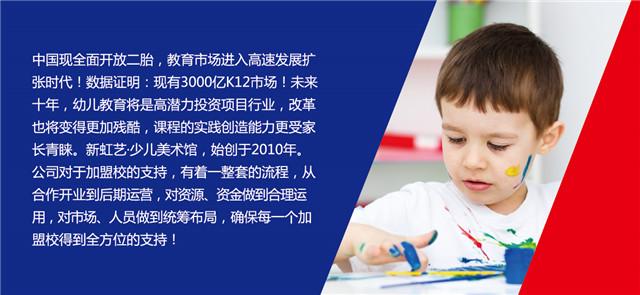 新虹藝兒童美術加盟_60多家直營校_教育連鎖品牌_2018招商_1