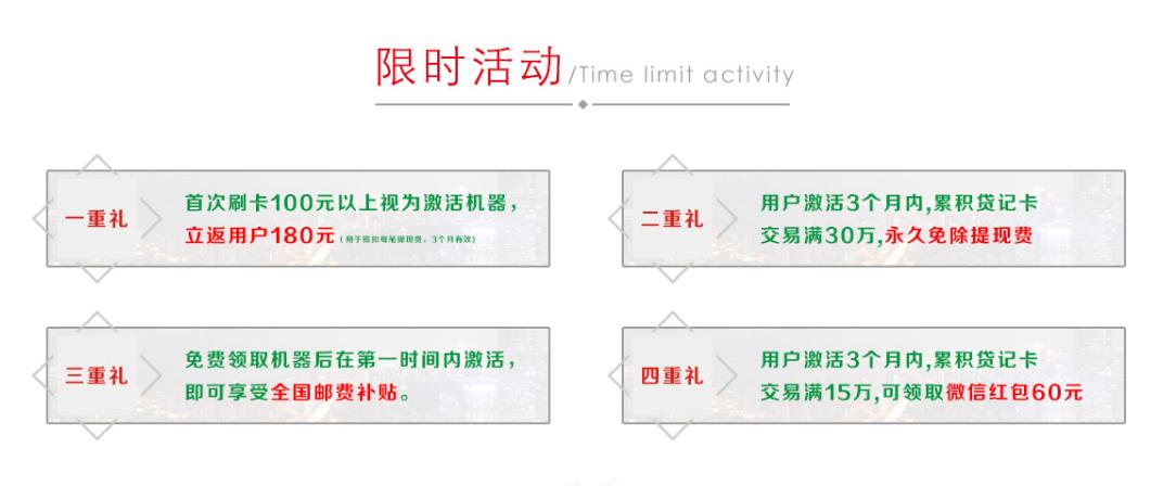 怎么办理一台POS机?新中付手刷红包限时活动(图)_1