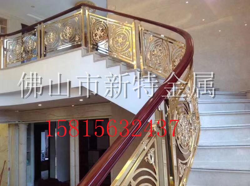 铜楼梯 高档艺术铜雕花别墅楼梯扶手护栏