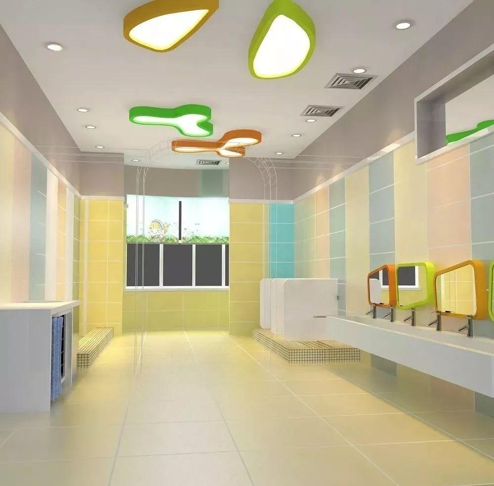 站在孩子角度设计幼儿园卫生间,原来可以这么美!(图)_3