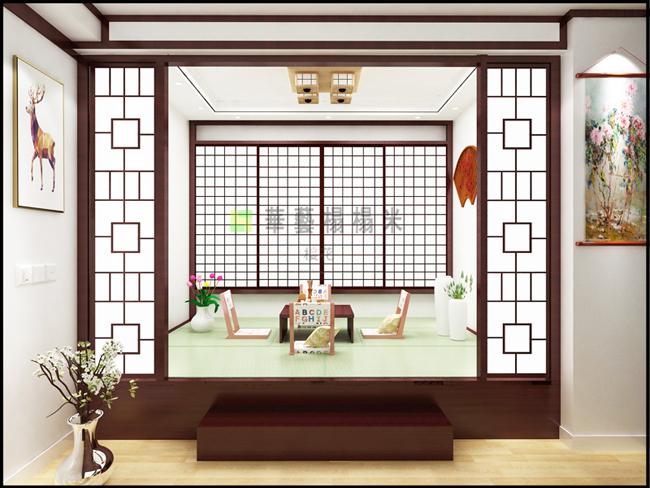 华艺和室榻榻米-色漆间_2