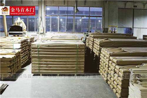 选择信得过的木门厂家看金马首真材实料大品牌_1