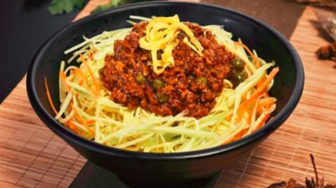 南泉豌豆面特色:干馏干拌,颗颗翻沙,碗碗耙味。(图)_1