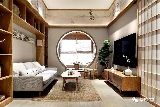 106㎡的现代日式3房,客厅漂亮,很特别!(图)_1