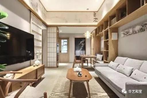 106㎡的现代日式3房,客厅漂亮,很特别!(图)_2